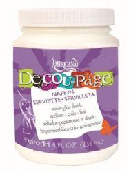 DecoArt Americana - Decou-Page Glue/Sealer/Finish - Napkin - 8oz